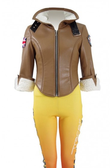 Tracer Overwatch Brown Leather Jacket