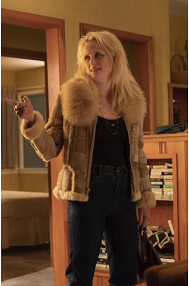 Lucy Purcell True Detective Fur Collar Shearling Jacket