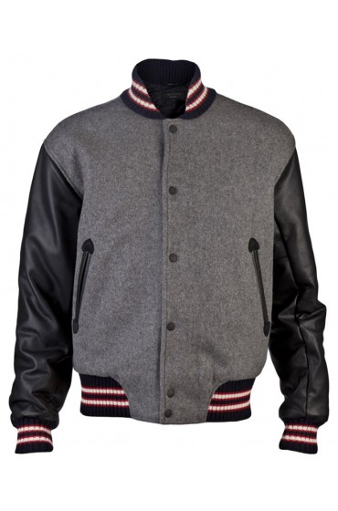 Andrew Garfield Varsity Wool Jacket