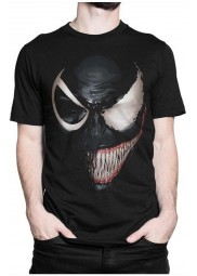 Venom Black and White Face T-shirt