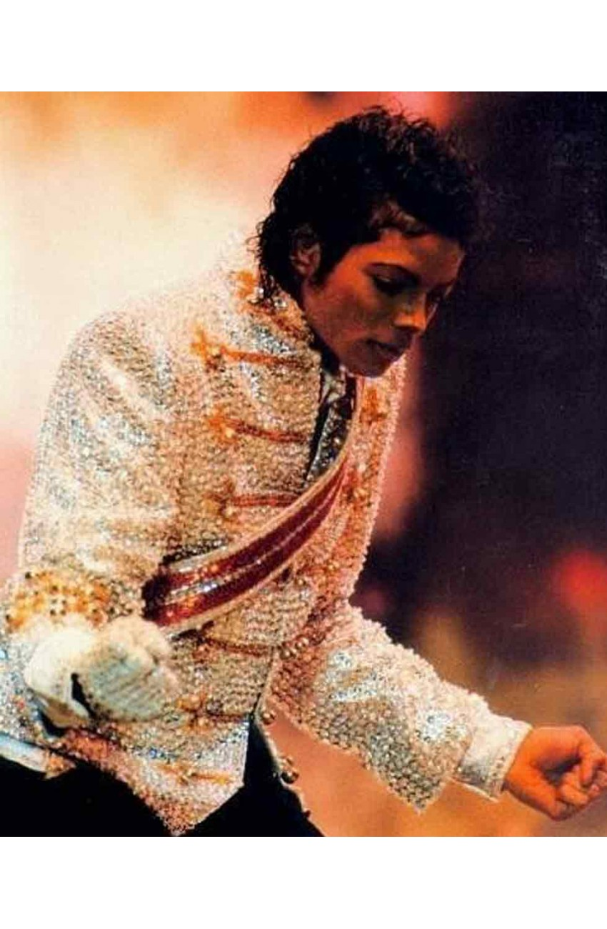 Victory tour jacket michael jackson sequin jacket for Jackson galaxy band