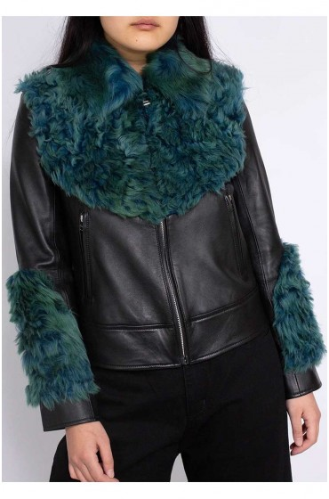 Women Aviator Shearling Jacket