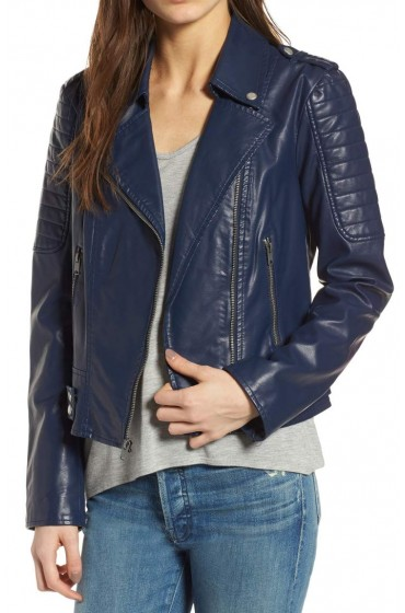 Asymmetrical Womens Blue Jacket