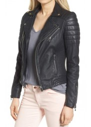 Women Dual Zip Black Jacket