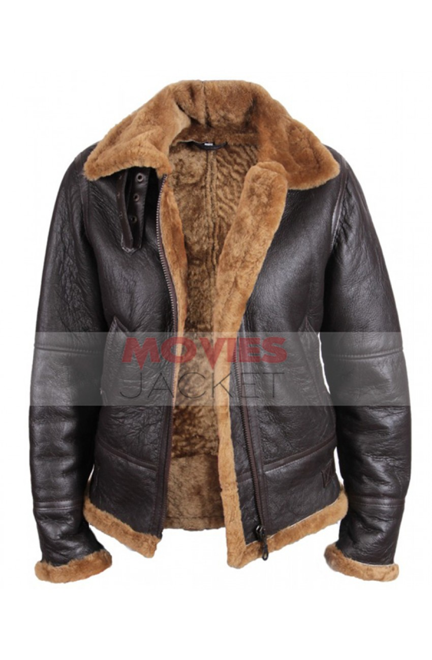 womens leather jacket with sheepskin
