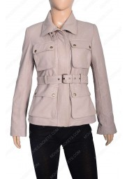 Womens Four Pocket Stone Coat