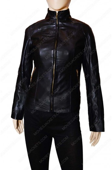 Womens Leather Black Motorcycle Jacket