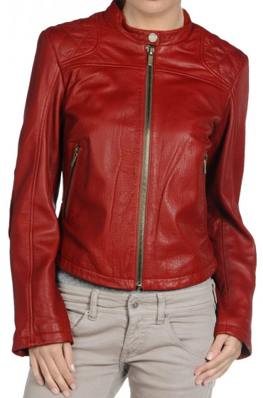 Red Hot Leather Jacket for Women