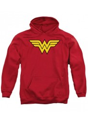 Wonder Woman Red Logo Hoodie