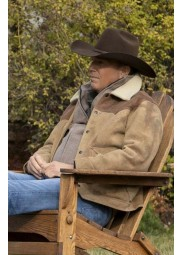 Yellowstone Season 3 Kevin Costner Fur Collar Jacket