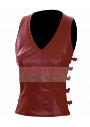 Zoe Washburne Firefly TV Series Gina Torres Brown Leather Vest